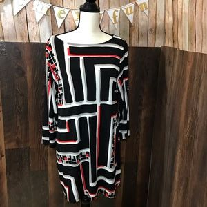 Style & Co shift geometric dress XL